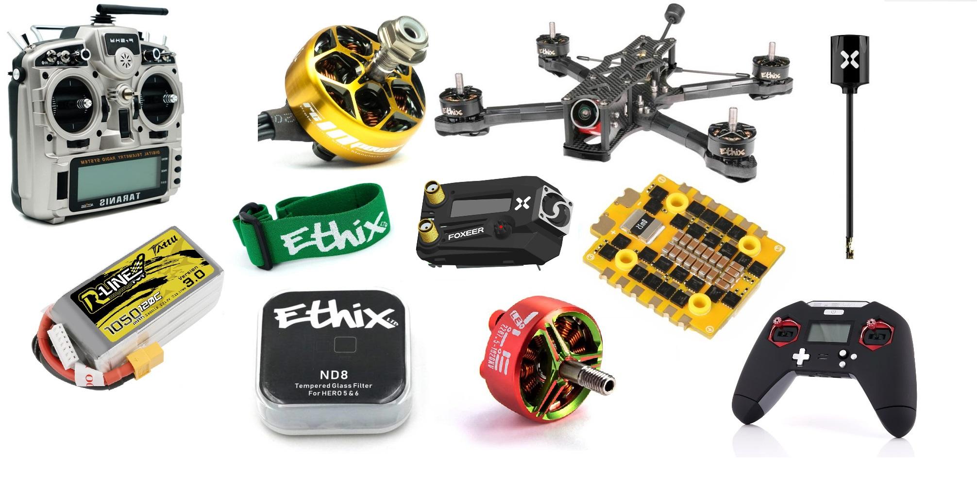 Doplňky a díly FPV dronů