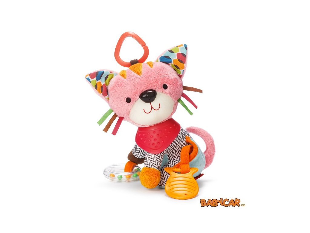 SKIP HOP hračka na C-kroužku BUNDANA BUDDIES Kočička