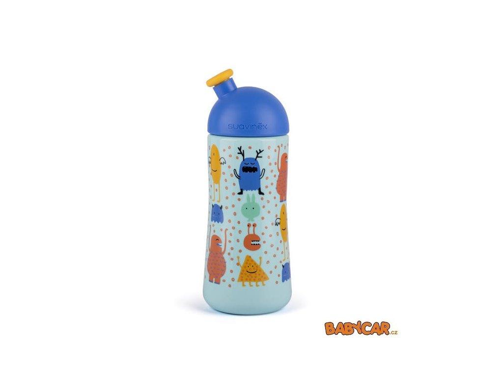 SUAVINÉX láhev se sportovním pítkem BOOO 360ml Modrá