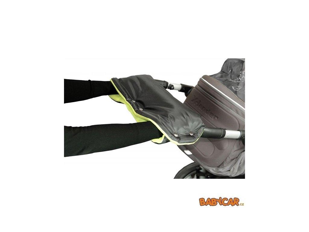 EMITEX rukávník ke kočárku Černá/Limetka