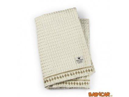 ELODIE DETAILS waflová deka ORGANIC WAFFLE BLANKET Vanilla White