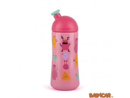 SUAVINÉX láhev se sportovním pítkem BOOO 360ml Růžová