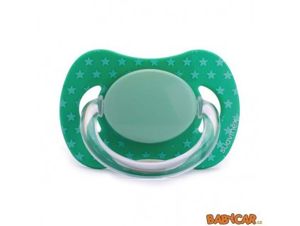 SUAVINÉX silikonový dudlík FYZIOLOGICKÝ +0m, 1ks Zelená