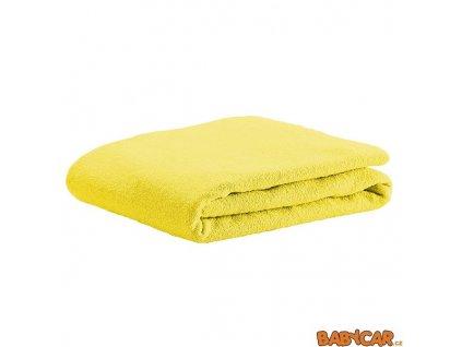 ODENWÄLDER froté prostěradlo UNI Yellow