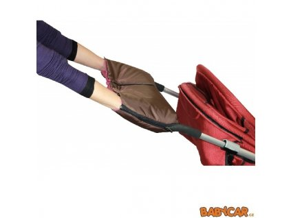 EMITEX rukávník ke kočárku DUO 2v1 Hnědá/Fuchsia