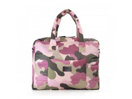 7 A.M. ENFANT taška PLAZA Camo Pink DOPRODEJ!