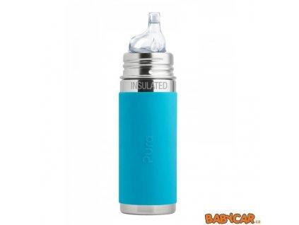 PURA láhev s pítkem TERMO 260ml Aqua