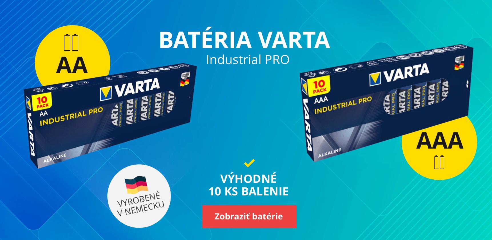 Batérie Varta Industrial PRO AA AAA
