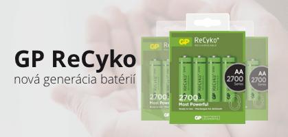 GP Recyko nová generácia batérií