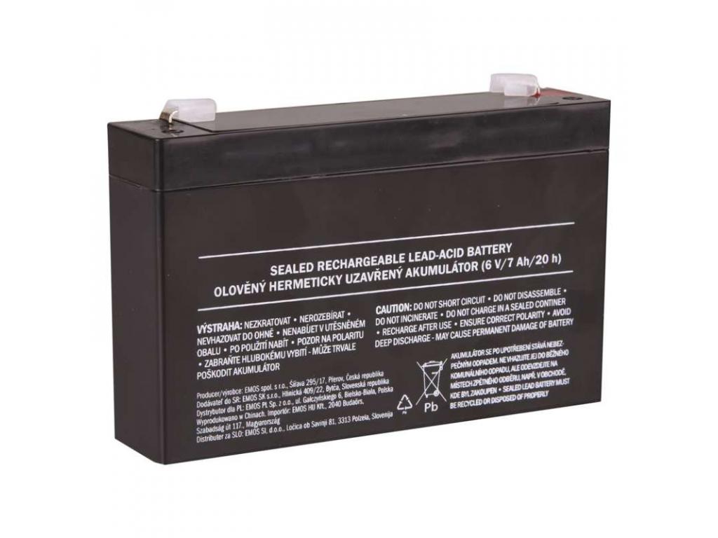 Akumulátor olovený 6V 7Ah bezúdržbový