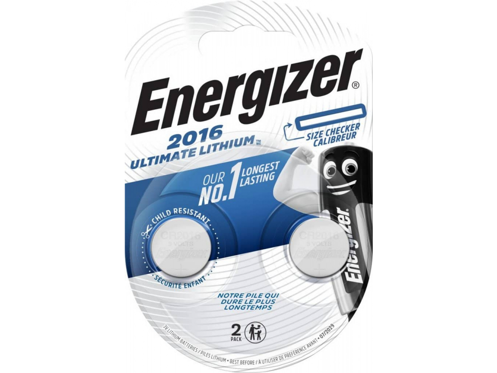 Batéria Energizer Ultimate Lithium CR2016 2 ks
