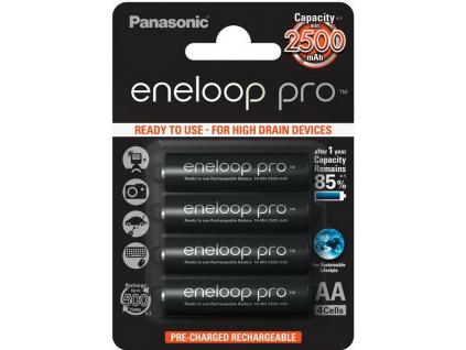 Akumulátory Panasonic eneloop pro BK-3HCDE/4BE 2500 mAh AA 4 ks blister