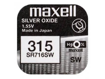 Batéria gombíková mini Maxell 315, 314, SR 716 SW