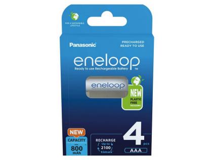 Panasonic akumulátory eneloop AAA 750 mAh mikrotužkové 4 ks blister BK-4MCCE/4BE