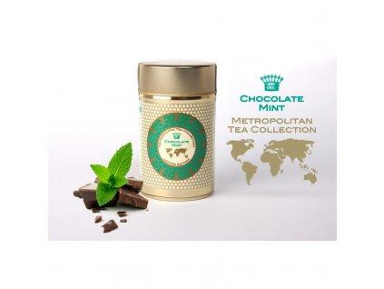 Metropolitan sypaný čaj Čokoláda s mátou, 60 g, sleva 50% EXP 10/20