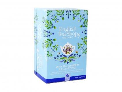 ETS Bílý čaj, borůvka a bezový květ, 20 sáčků