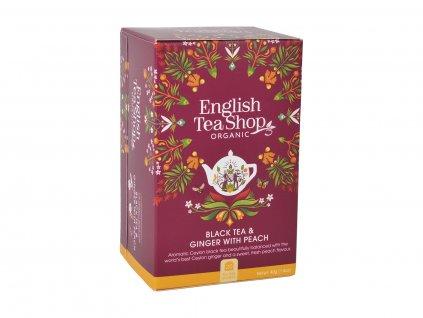 ETS Černý čaj se zázvorem a broskví, 20 sáčků