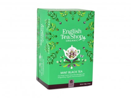 ETS Černý čaj s mátou, 20 sáčků