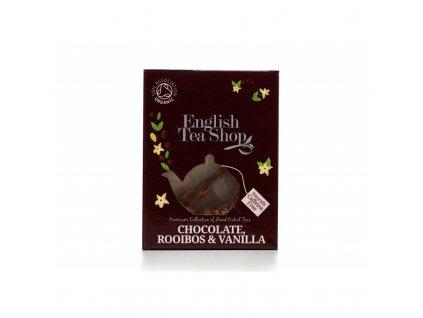 bio caj cokolada rooibos vanilka hedvabna pyramidka