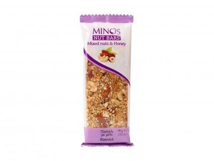 MINOS Ořechová tyčinka Mix ořechů a med, 60 g