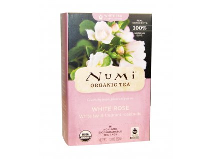 Numi Organic Tea White Rose bily caj s poupaty bilych ruzi bio 16 sacku sku948