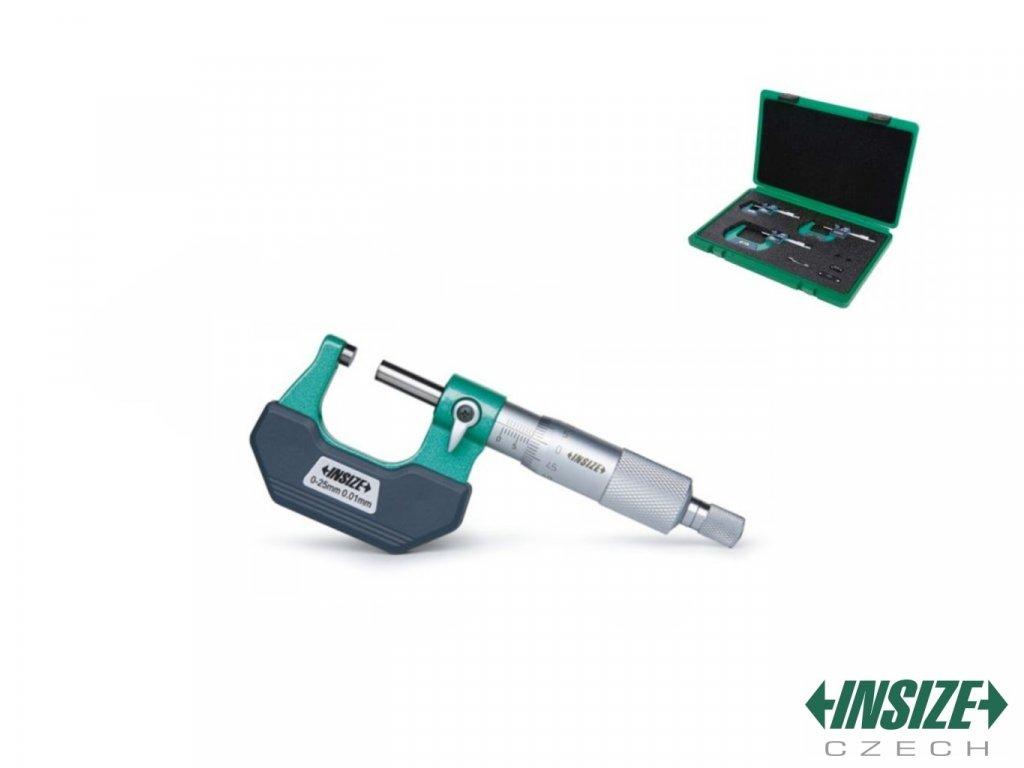 Set vnějších třmenových mikrometrů INSIZE 0 75 mm 3202 753A