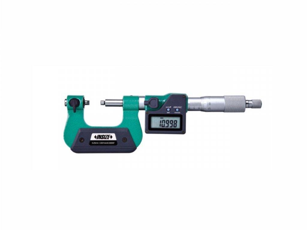 Digitální třmenový mikrometr se šroubovými doteky INSIZE 75 100 mm 3581 100a