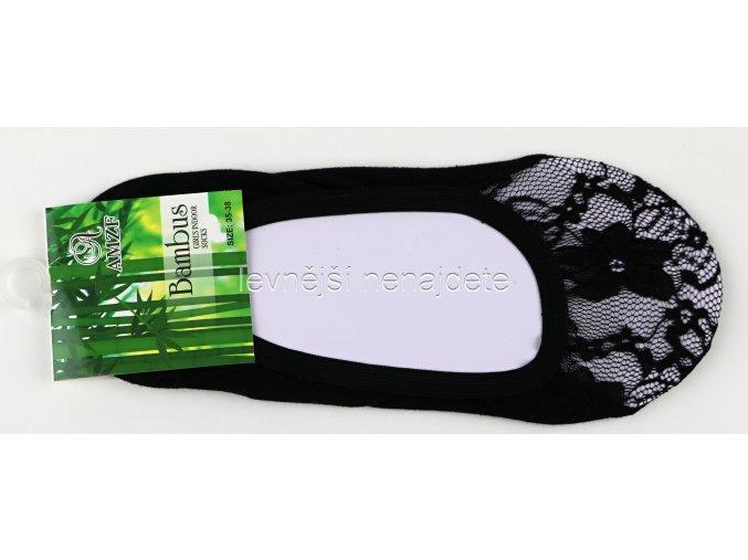 Bambusové krajkové ťapky černé