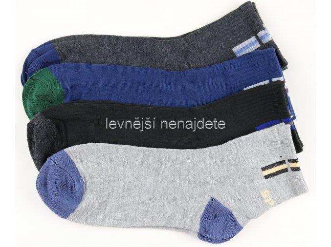 Pánské bavlněné ponožky sports 3 páry