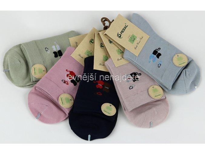 Dámské ponožky barevné kočky