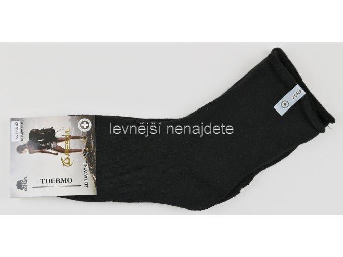 Dámské zdravotní bavlněné termo ponožky černé