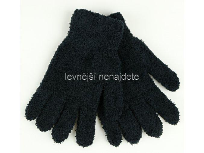 Dámské pletené rukavice žinylkové černé