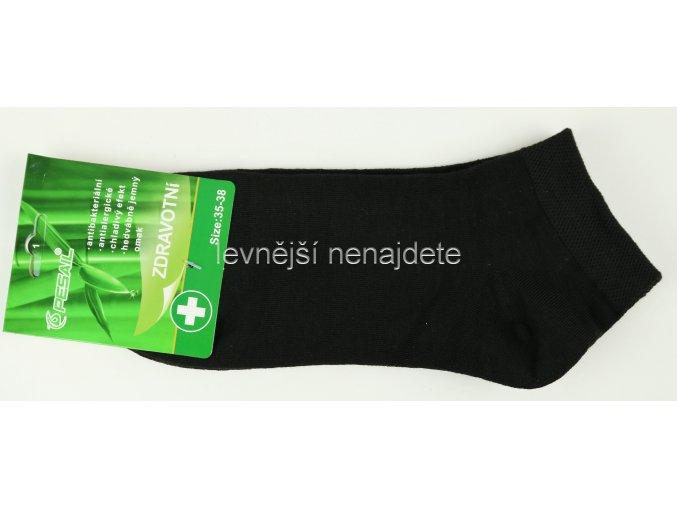 Dámské zdravotní bambusové kotníkové ponožky černé 3 páry