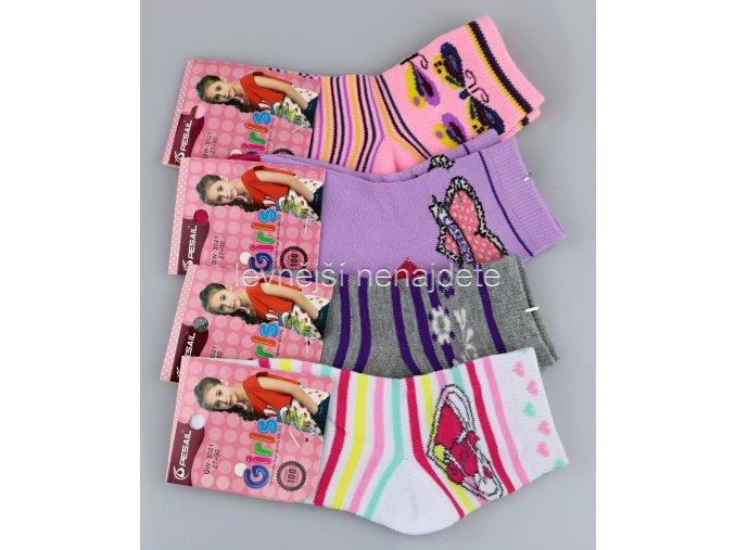 Dívčí bavlněné ponožky bar 3 páry