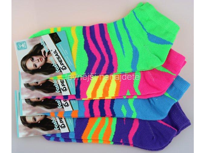 Dámské bavlněné kotníkové ponožky bar 3 páry
