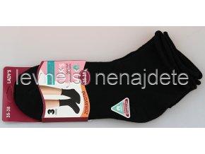Dámské zdravotní ponožky černé 3 páry