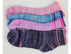 Dámské bambusové ponožky SPORTS melír 3 páry
