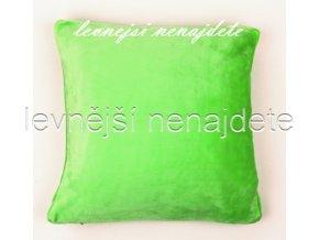 Povlak na polštářek mikroflanel zelený 40 x 40