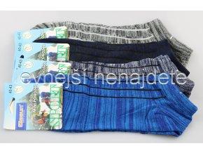Pánské bavlněné kotníkové ponožky melír 3 páry
