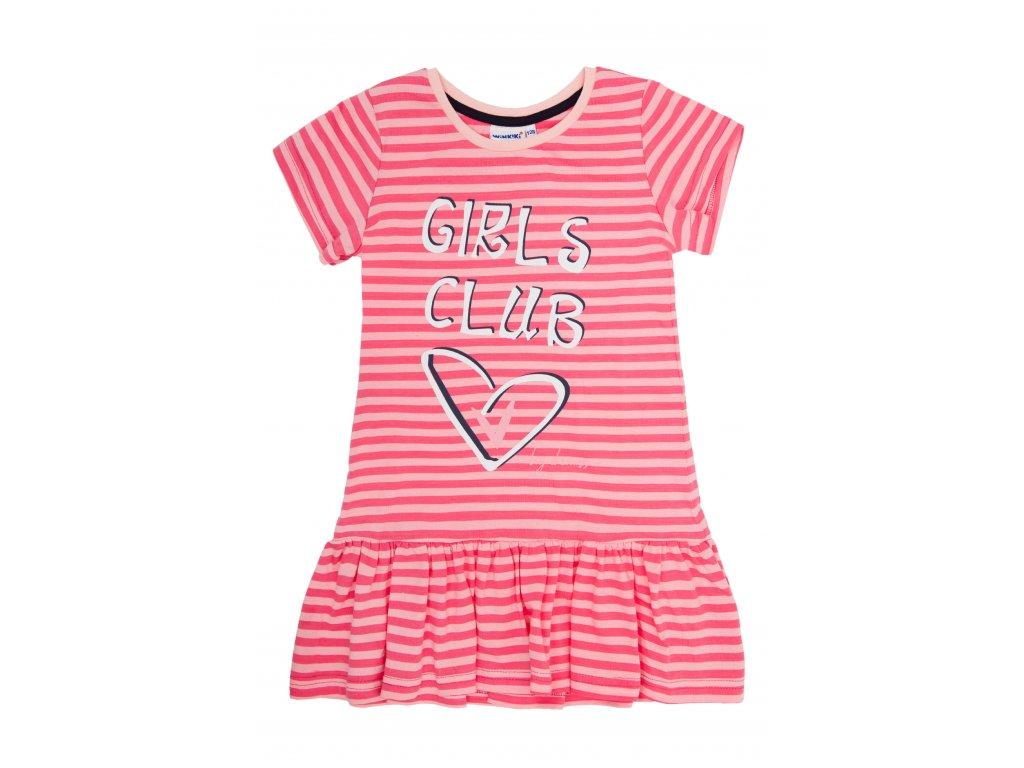 Dívčí triko / tunika/ s volánem, krátký rukáv